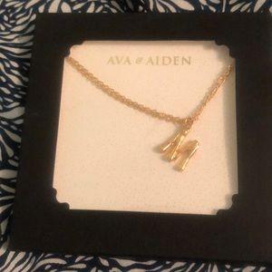 "😎 3 /$20 Ava & Aiden ""M"" necklace"